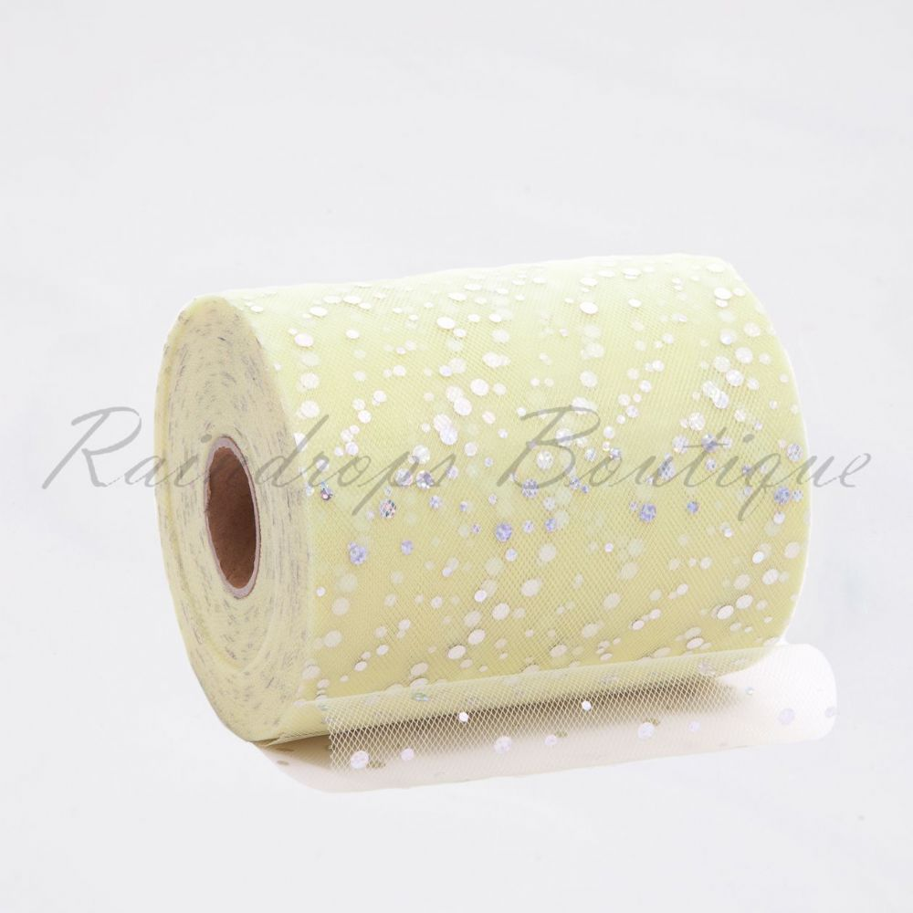 Baby Yellow Sequin Tulle Roll